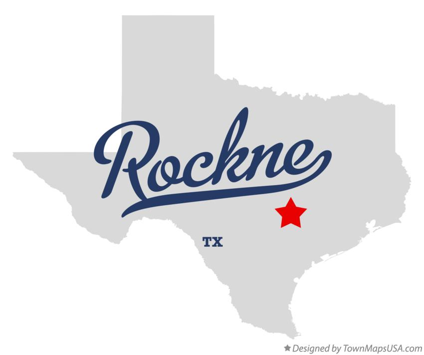 Map of Rockne Texas TX