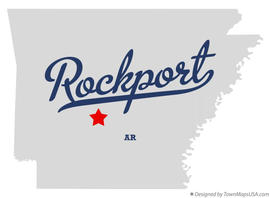 Map of Rockport Arkansas AR