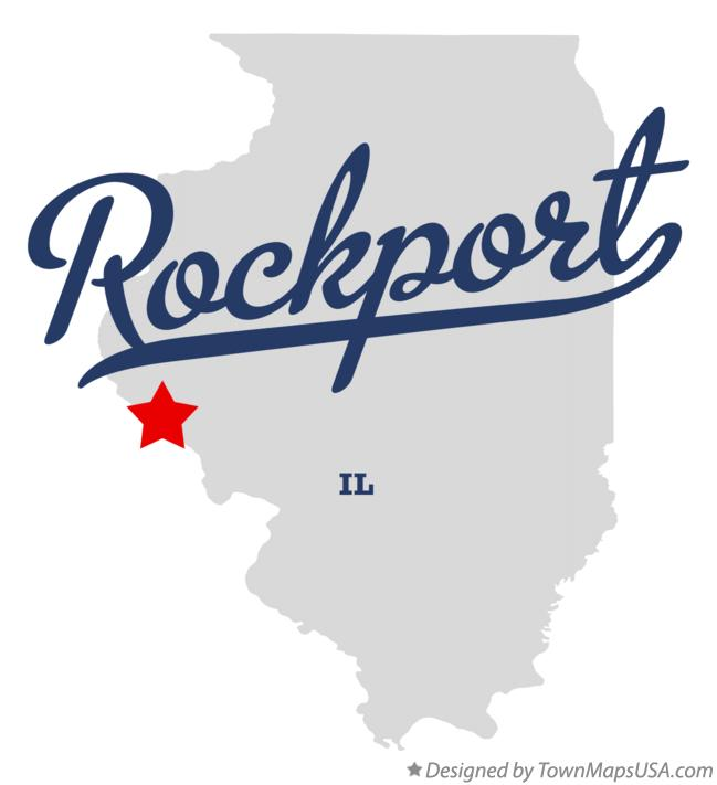 Map of Rockport Illinois IL