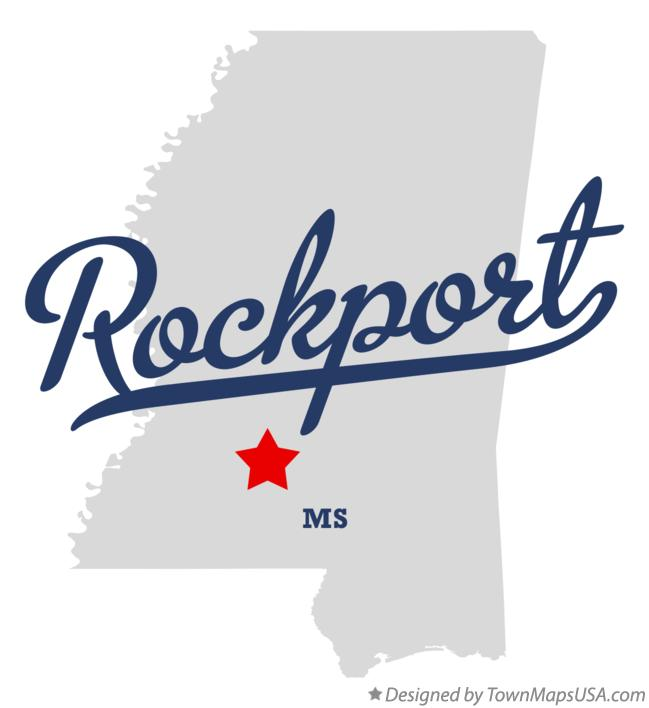 Map of Rockport Mississippi MS