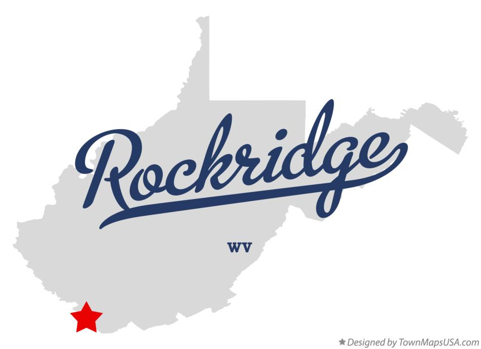 Map of Rockridge West Virginia WV