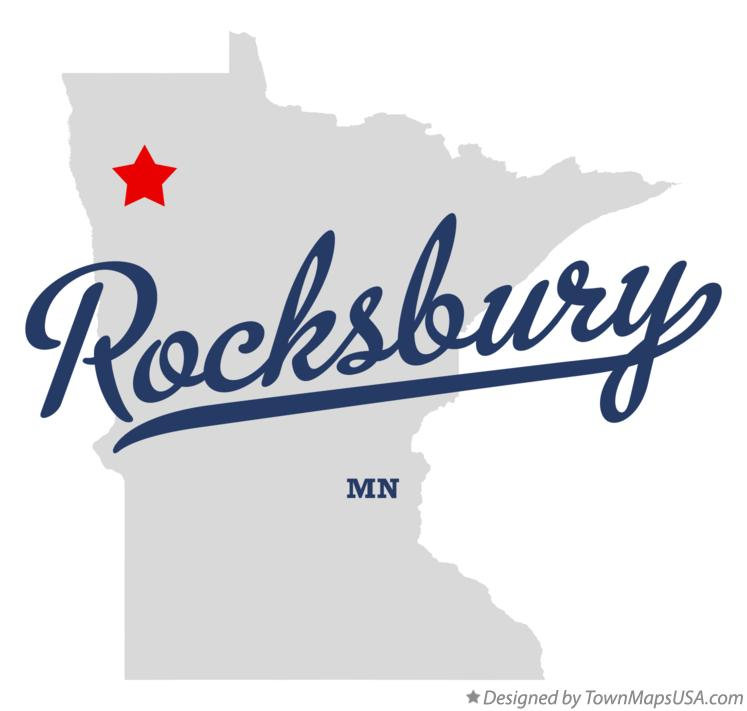 Map of Rocksbury Minnesota MN
