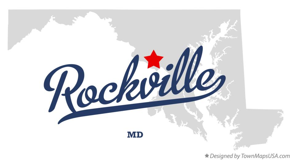 Map of Rockville Maryland MD