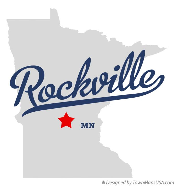 Map of Rockville Minnesota MN