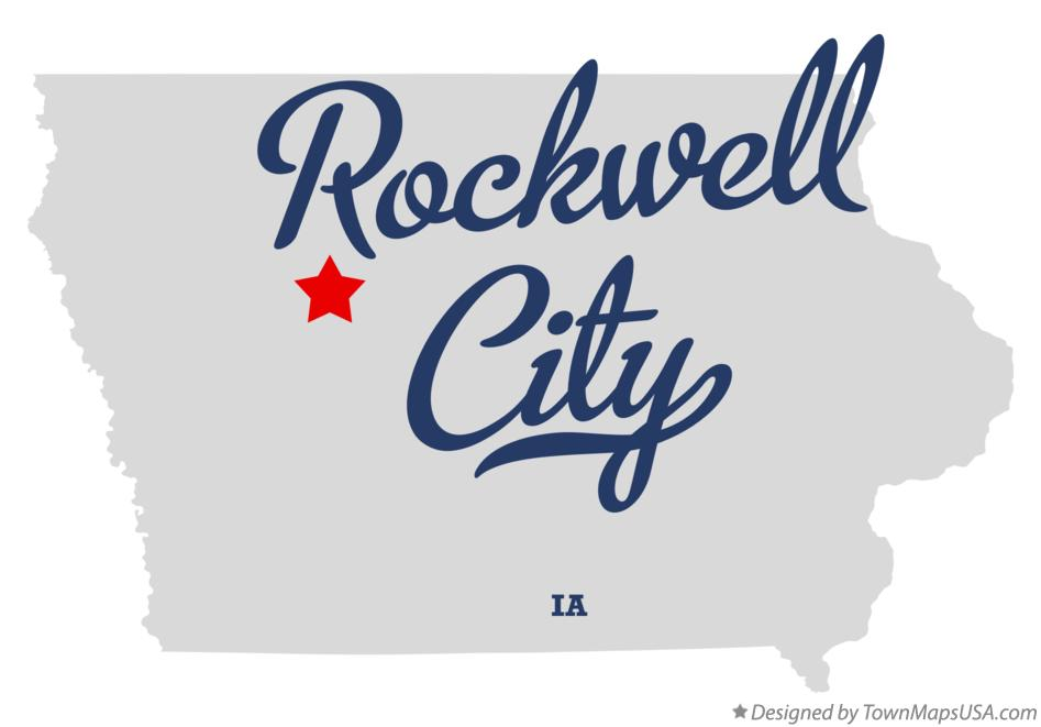 Map of Rockwell City Iowa IA