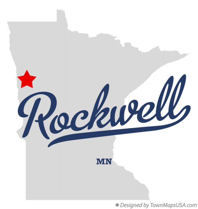 Map of Rockwell Minnesota MN