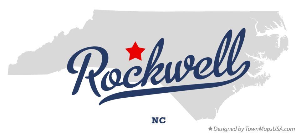 Map of Rockwell, NC, North Carolina