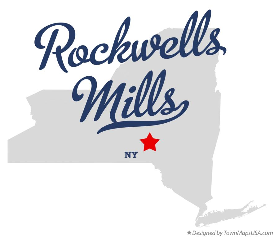 Map of Rockwells Mills New York NY