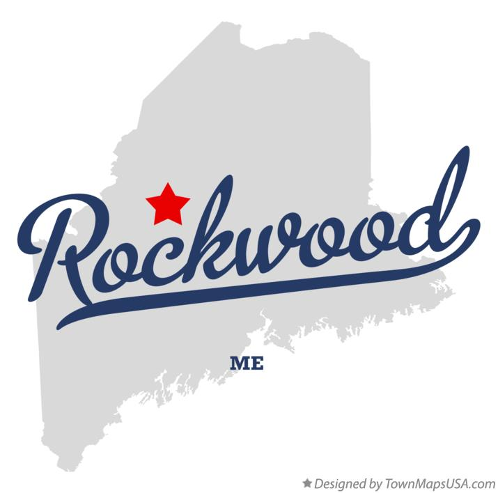 Map of Rockwood Maine ME
