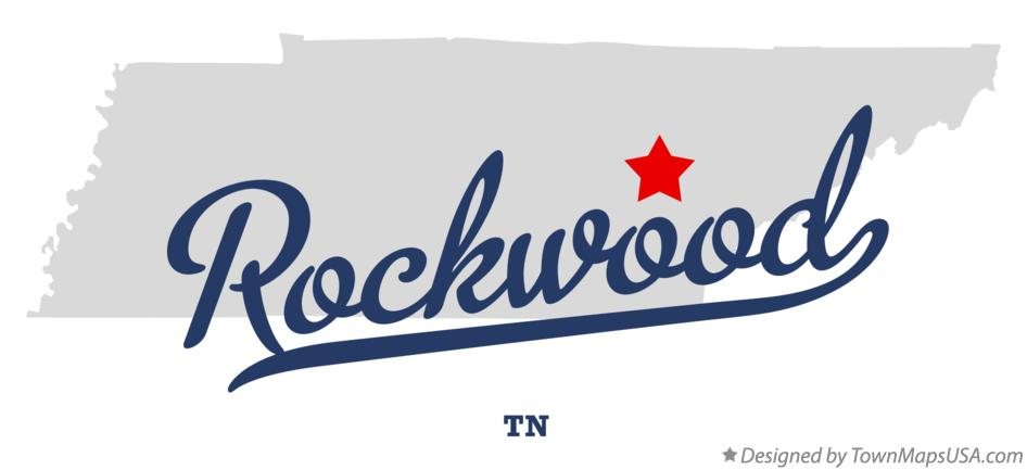 Map of Rockwood Tennessee TN
