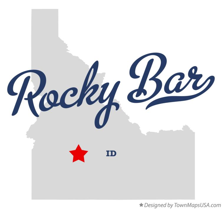 Map of Rocky Bar Idaho ID