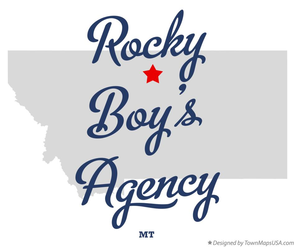 Map of Rocky Boy's Agency Montana MT