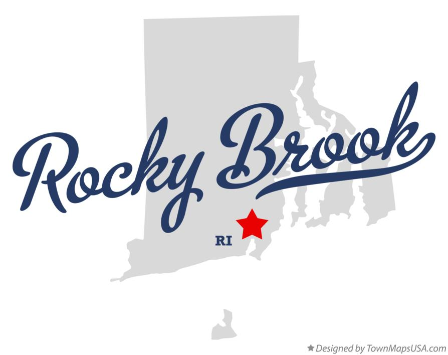 Map of Rocky Brook Rhode Island RI