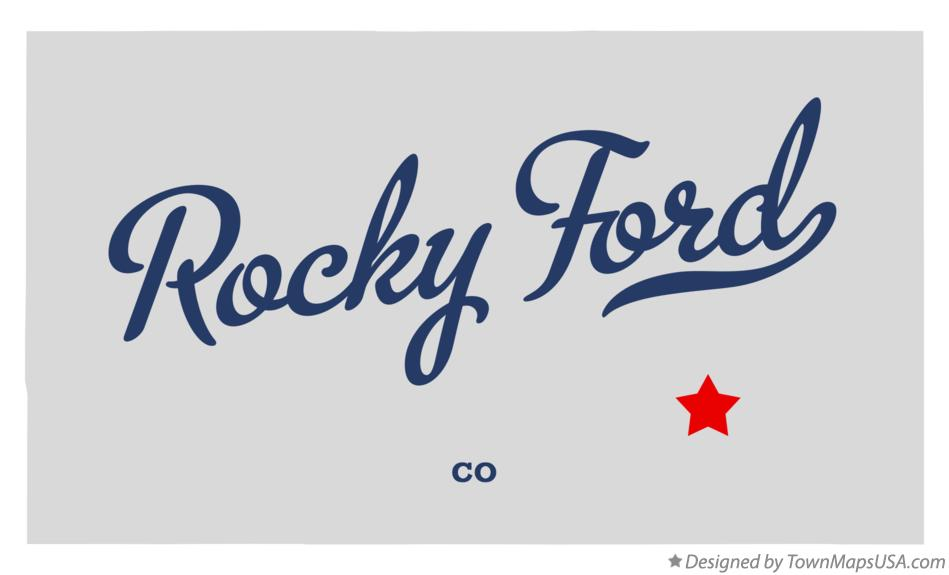 Map of Rocky Ford Colorado CO