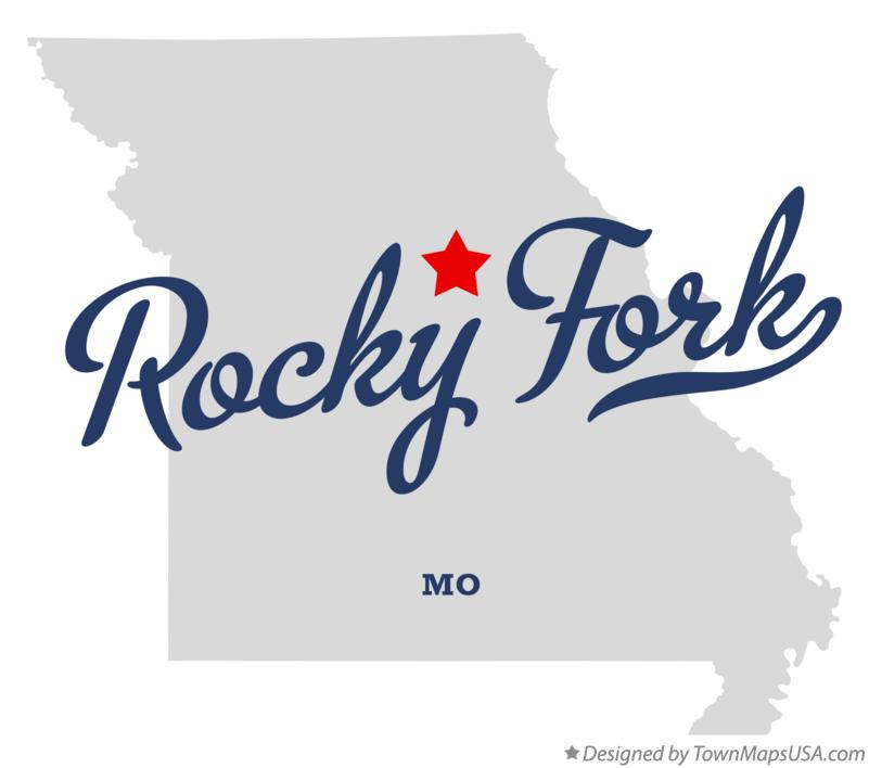 Map of Rocky Fork Missouri MO