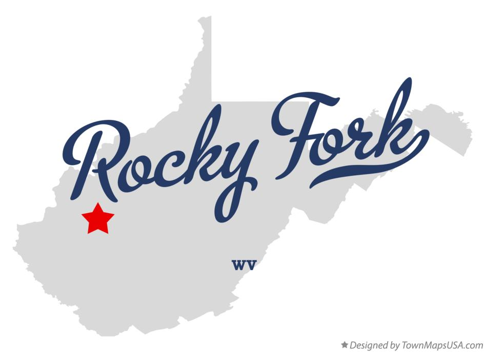 Map of Rocky Fork West Virginia WV