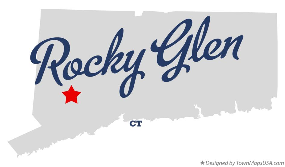 Map of Rocky Glen Connecticut CT