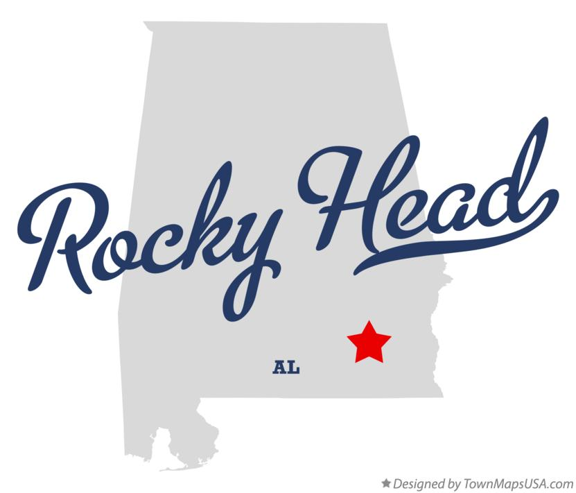 Map of Rocky Head Alabama AL