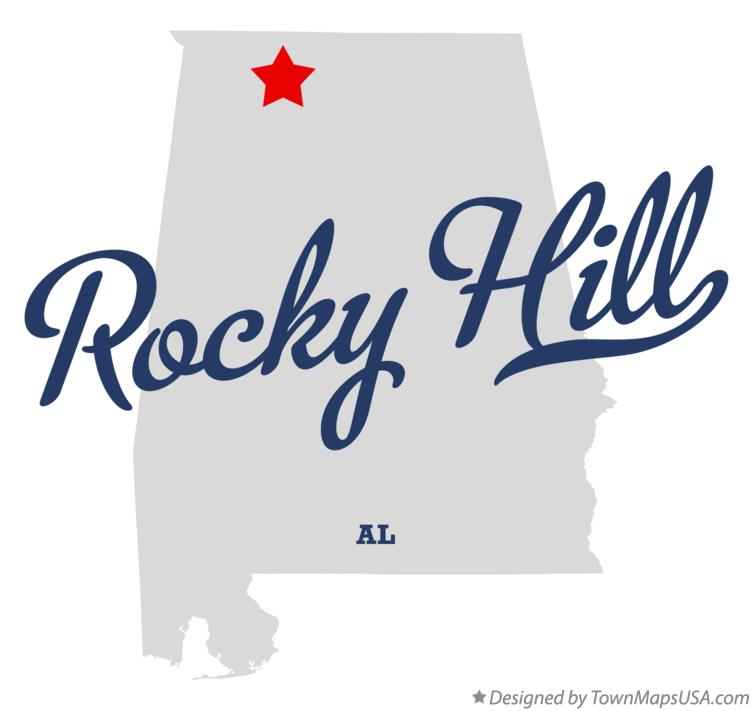 Map of Rocky Hill Alabama AL