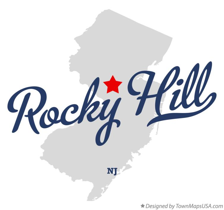 Map of Rocky Hill New Jersey NJ