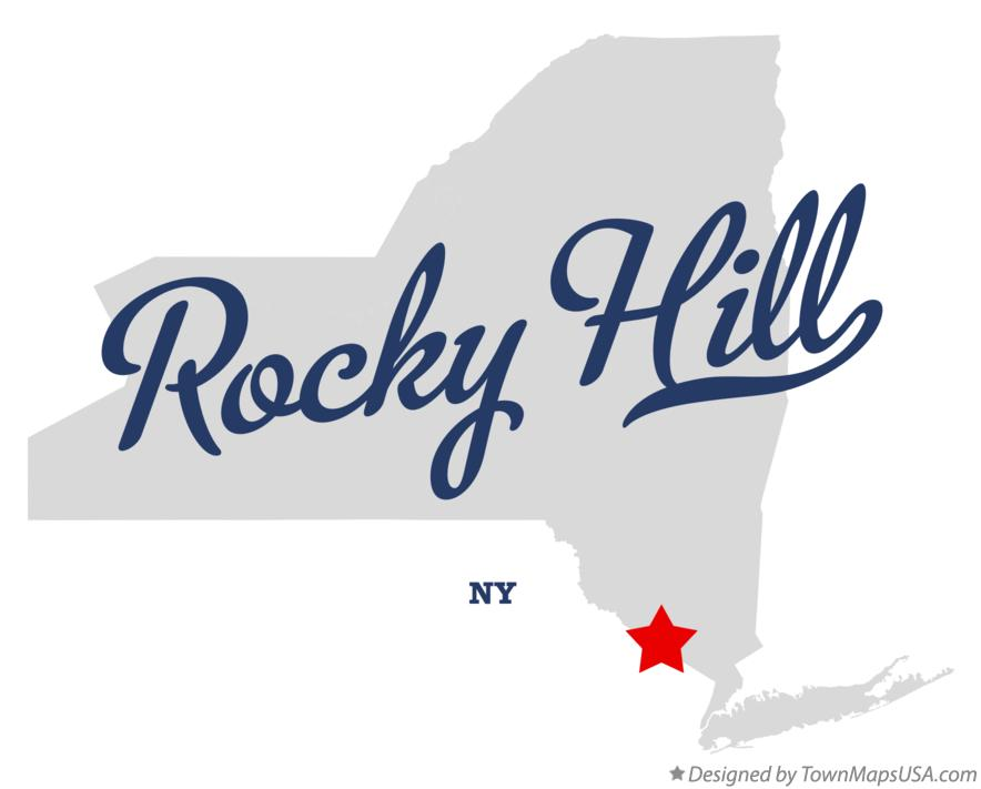 Map of Rocky Hill New York NY