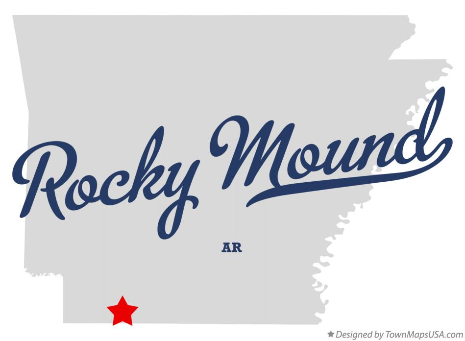 Map of Rocky Mound Arkansas AR