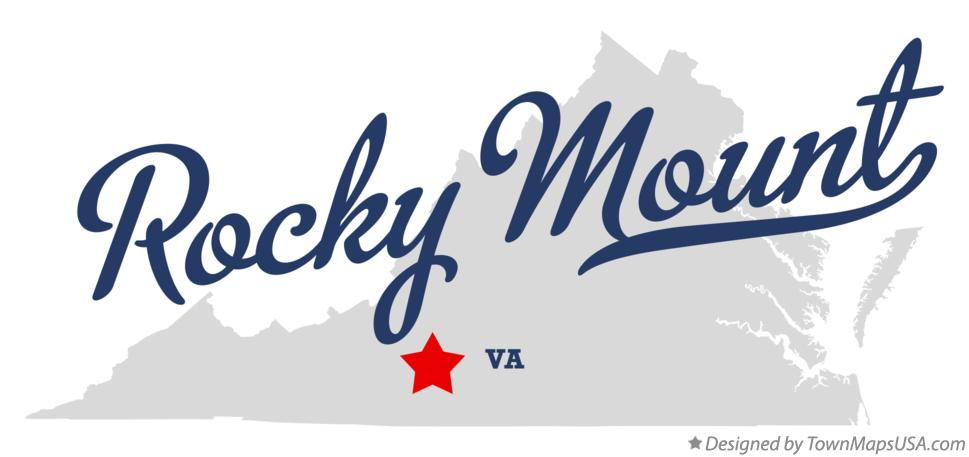 Map of Rocky Mount Virginia VA