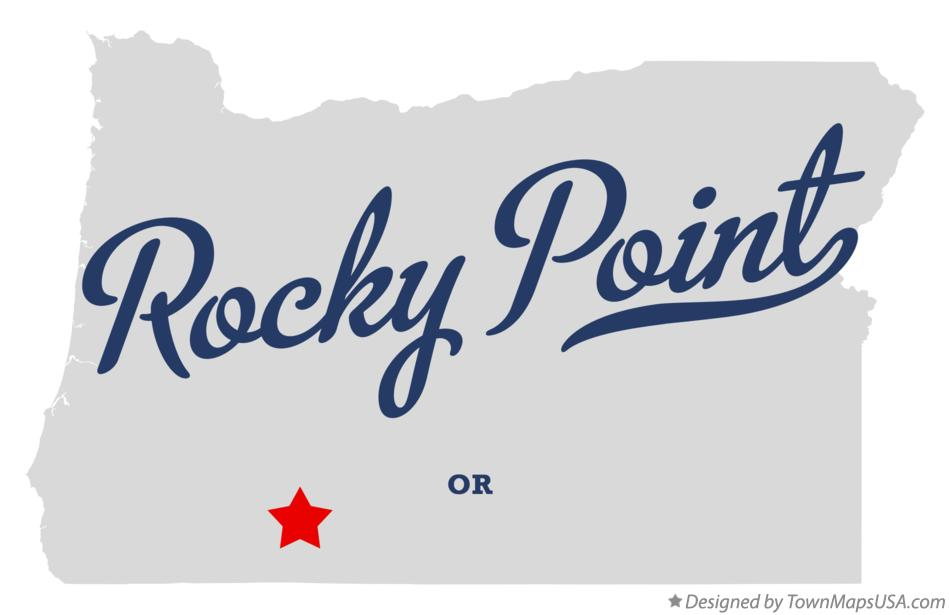 Map of Rocky Point Oregon OR