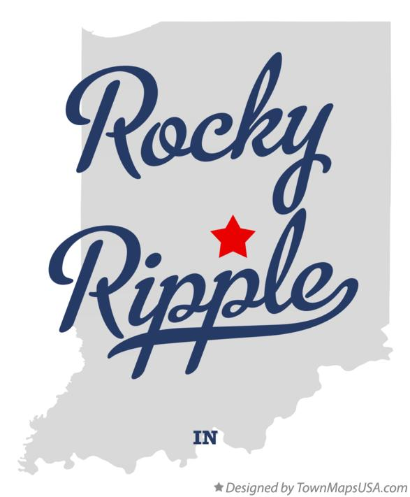Map of Rocky Ripple Indiana IN