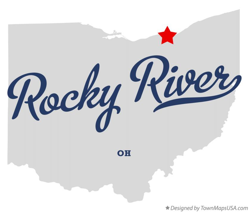 Map of Rocky River Ohio OH