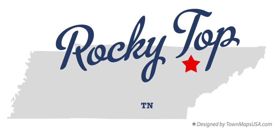Map of Rocky Top Tennessee TN