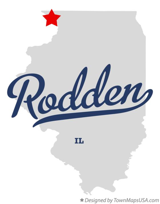 Map of Rodden Illinois IL