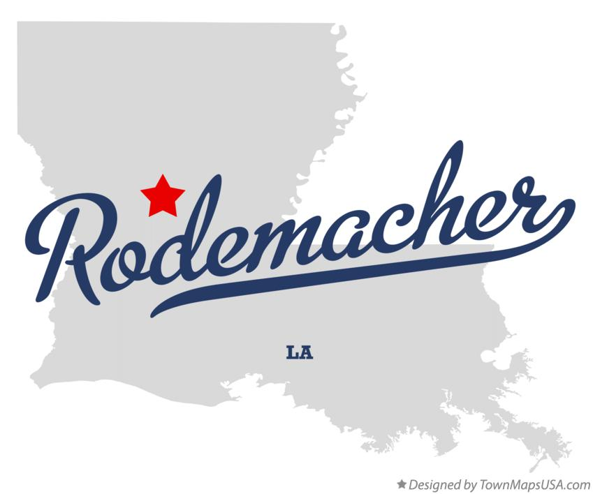 Map of Rodemacher Louisiana LA