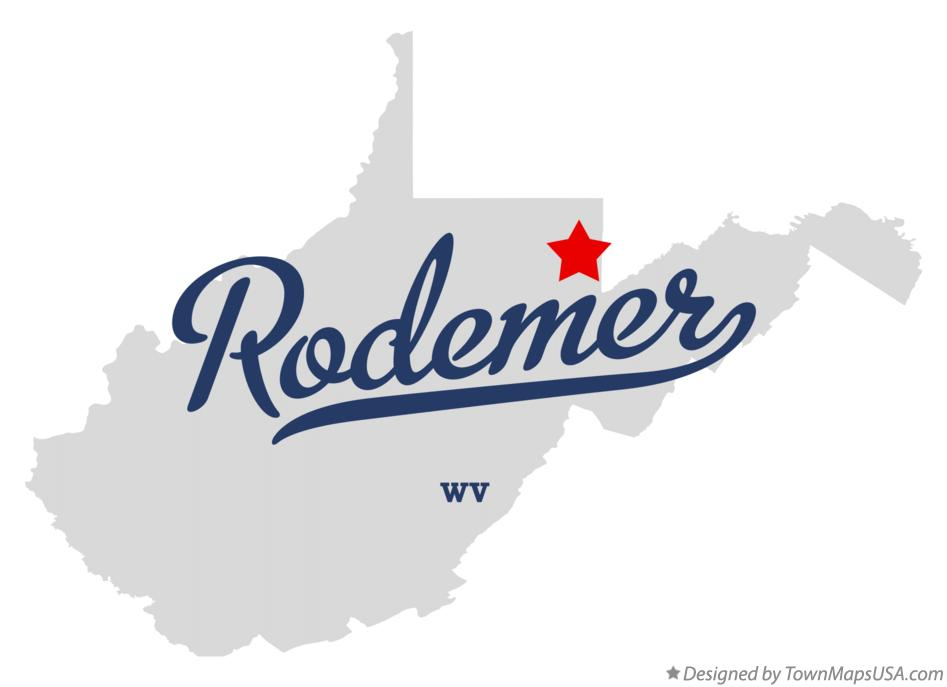 Map of Rodemer West Virginia WV