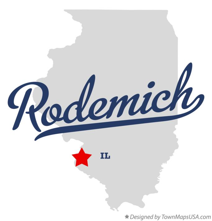 Map of Rodemich Illinois IL