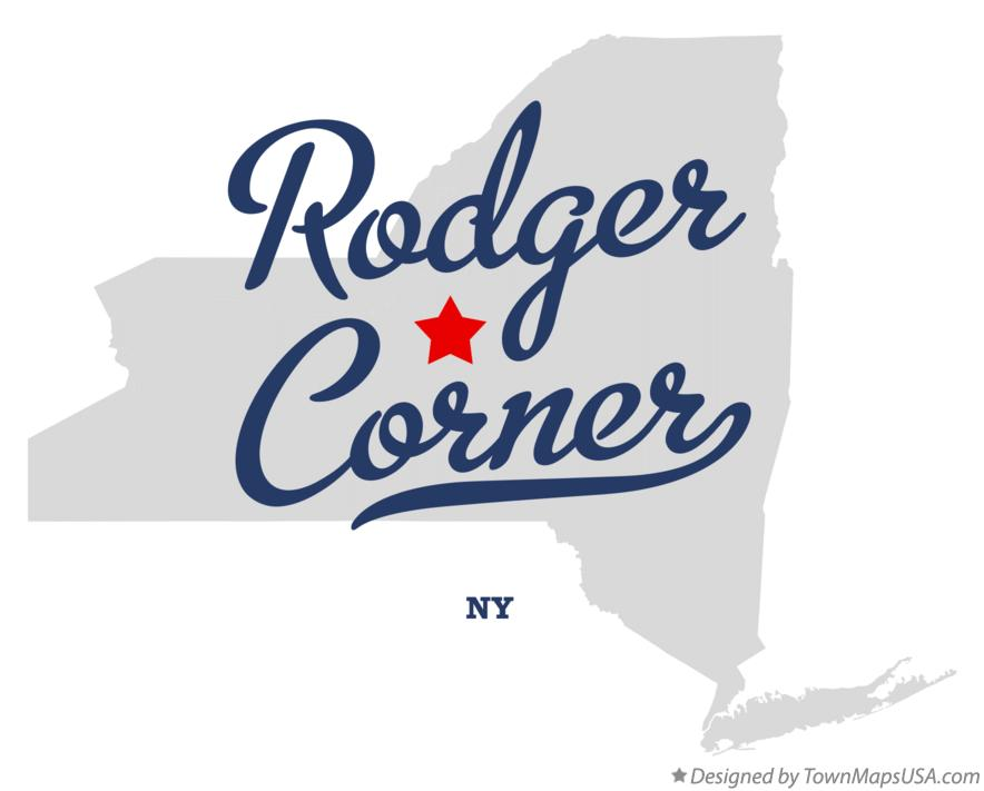 Map of Rodger Corner New York NY