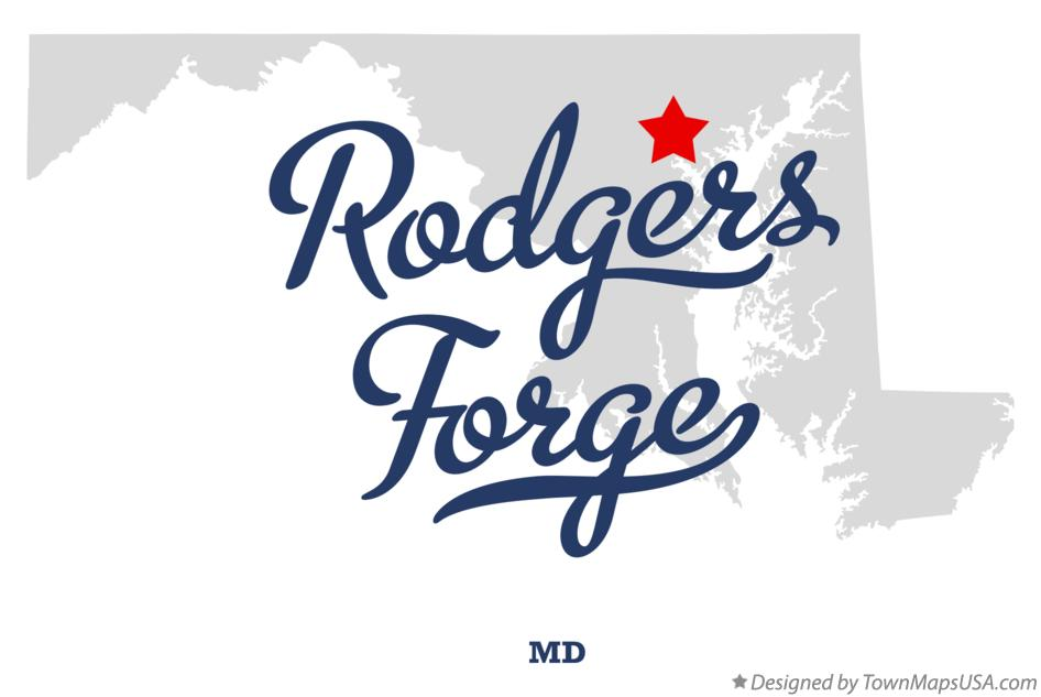 Map of Rodgers Forge Maryland MD