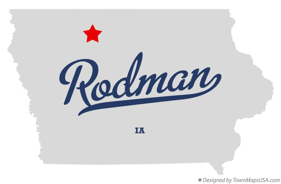 Map of Rodman Iowa IA