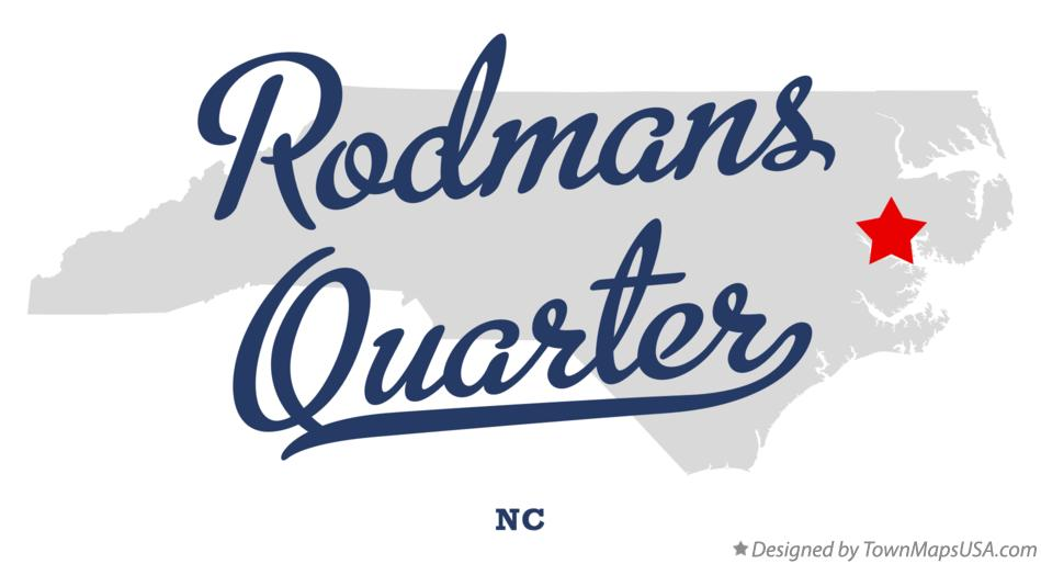Map of Rodmans Quarter North Carolina NC