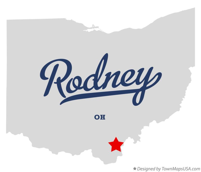 Map of Rodney Ohio OH