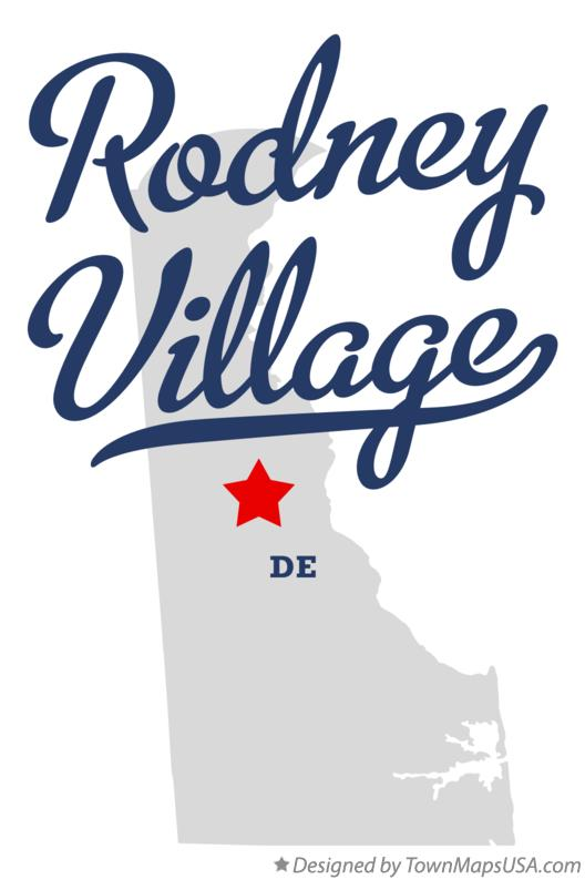 Map of Rodney Village Delaware DE