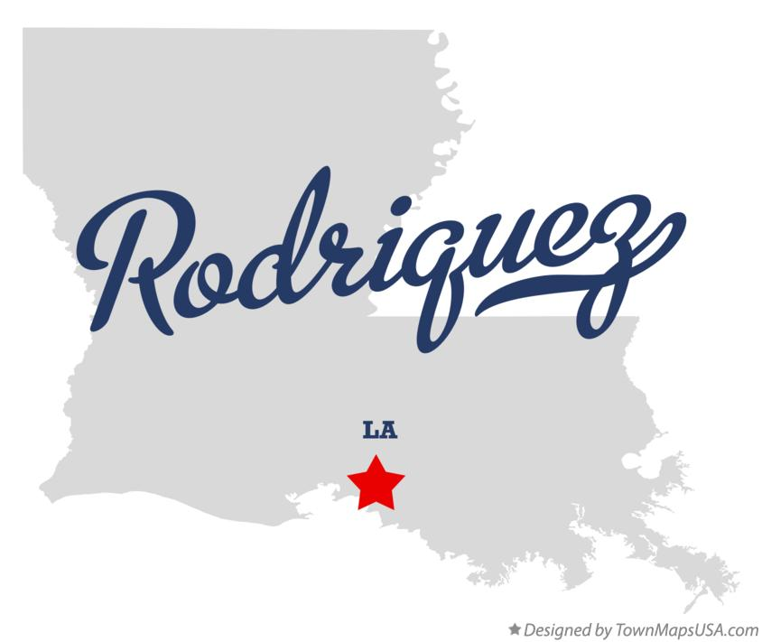 Map of Rodriquez Louisiana LA