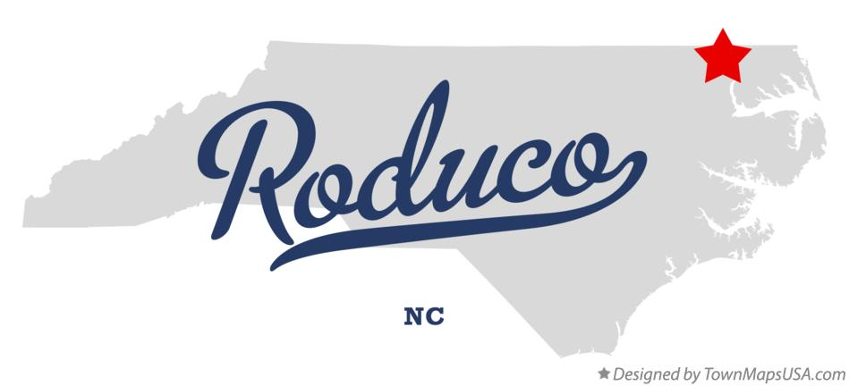 Map of Roduco North Carolina NC
