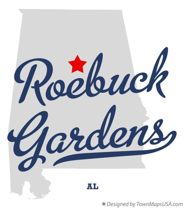 Map of Roebuck Gardens Alabama AL