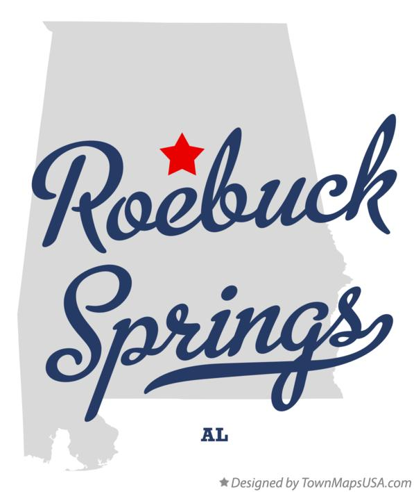 Map of Roebuck Springs Alabama AL