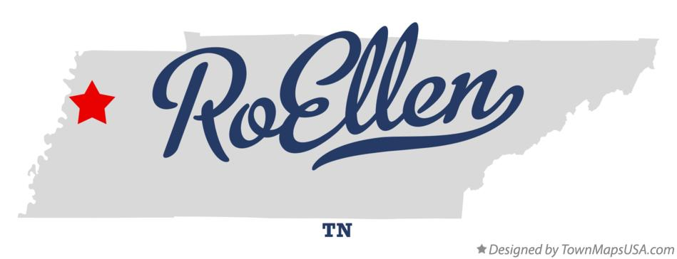 Map of RoEllen Tennessee TN