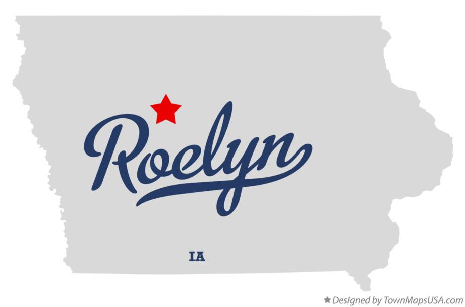 Map of Roelyn Iowa IA