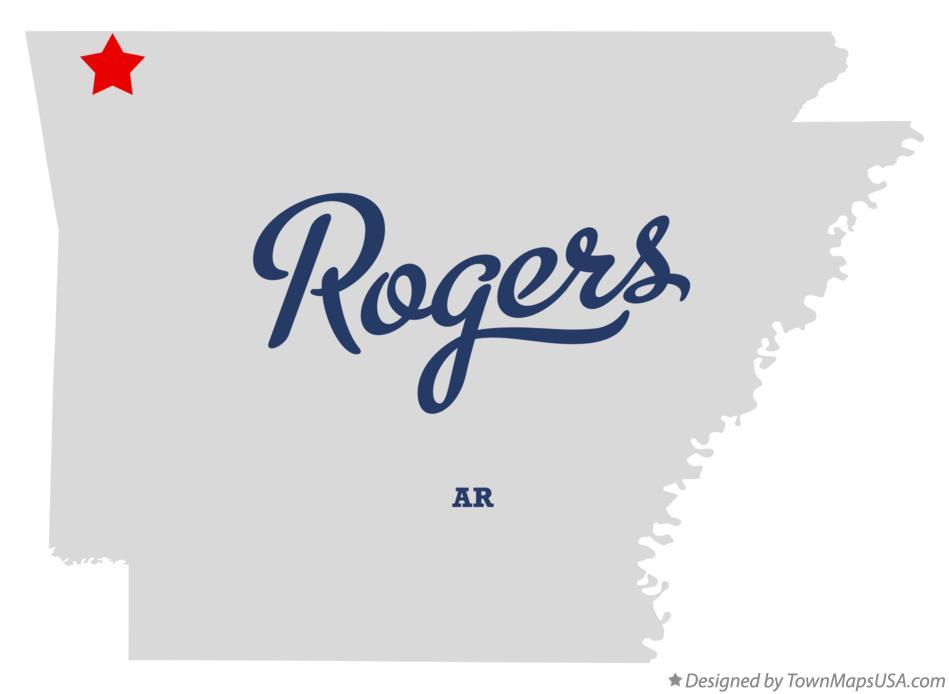 Map of Rogers, Benton County, AR, Arkansas