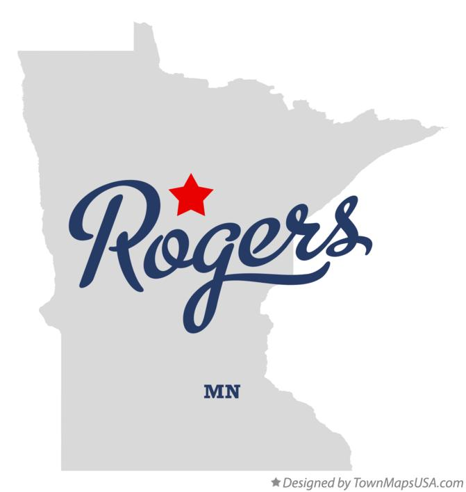 Map of Rogers Minnesota MN