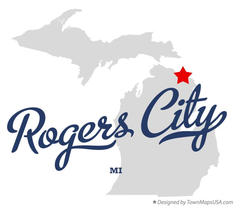 Map Of Rogers City Mi Michigan